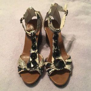 Wedge heels. Hardly worn